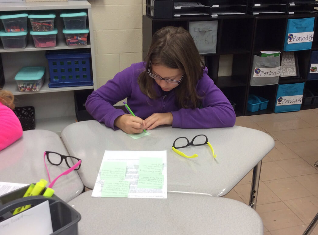 Annotating text to use evidence in essay
