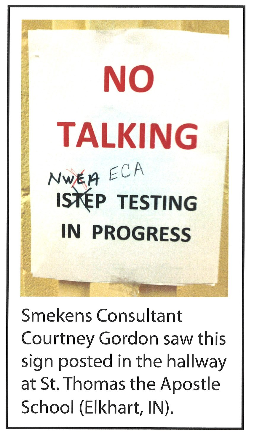 Test-Prep Sign