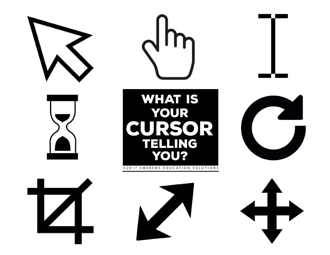Recognize cursor symbols to improve on screen reading as a student moves the mouse throughout a digital document he needs to know what each symbol indicates and how to respond test yourself buycottarizona