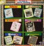 6 Traits of Writing bulletin board with picture book covers