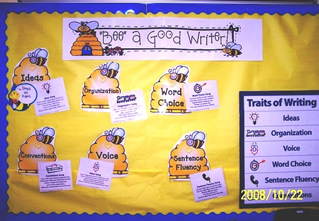 6 Traits of Writing Bee a Good Writer Bulletin Board