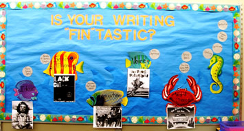 6 Traits of Writing--Fin-tastic Bulletin Board