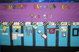 6 Traits of Writing--Journey through the Traits bulletin board