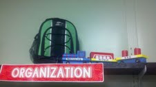 6 Traits of Writing--backpack display--Trait of Organization