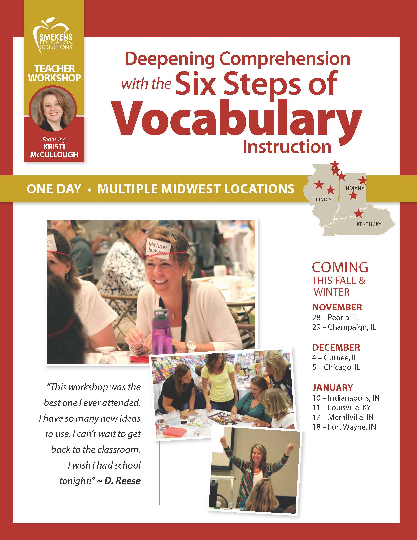 Deepening Comprehension with the Six Steps of Vocabulary Instruction