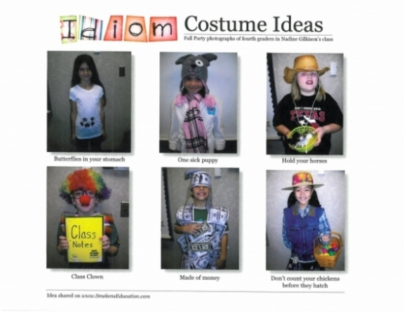 Fall Party Includes Idiom Costumes