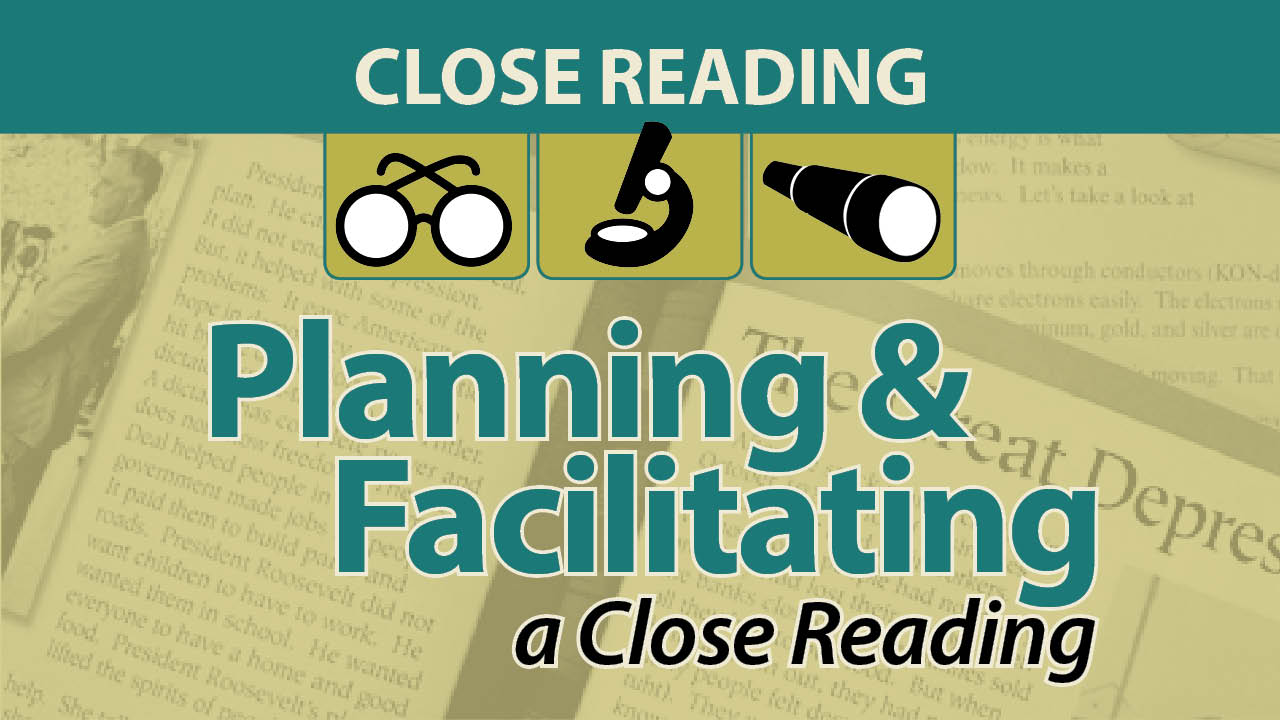 Planning & Facilitating a Close Reading Online Course with webAcademy by Smekens Education
