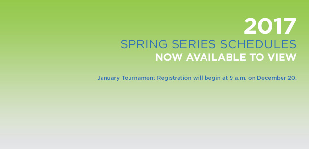 2017 Spring Series Schedule Now Available to View