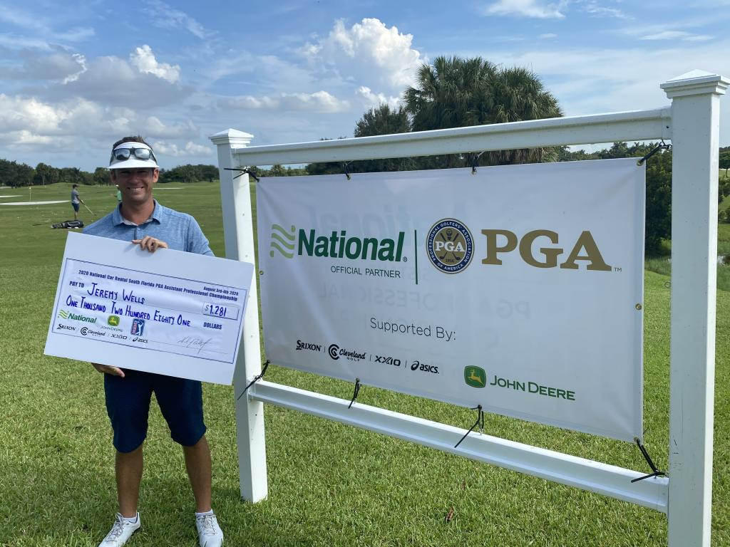 JEREMY WELLS WINS NATIONAL CAR RENTAL SOUTH FLORIDA PGA ASSISTANT PROFESSIONAL CHAMPIONSHIP