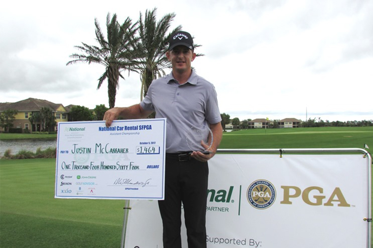 Justin McCarraher, PGA is our 2017 National Car Rental Assistant Champion