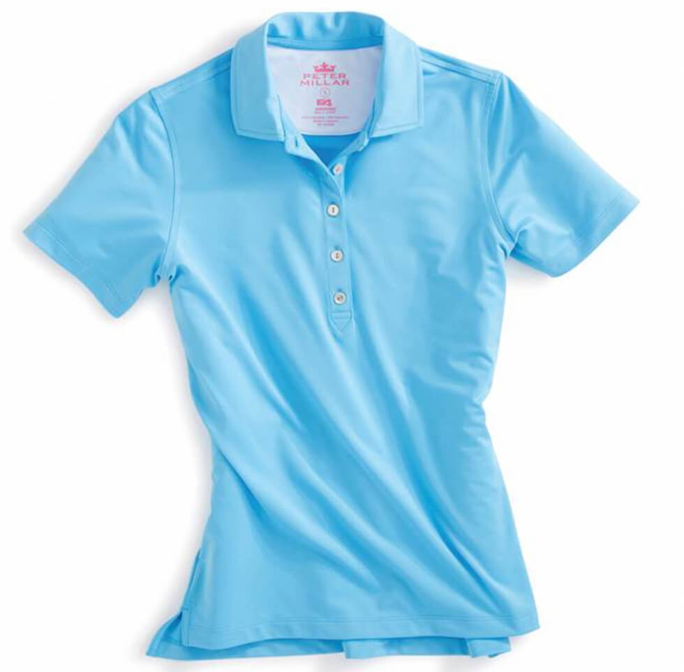 Short Sleeve Jersey Button Polo - Wave