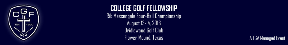 college golf fellowship This year's beneficiaries are high school outreach cru rdu, college golf  fellowship and compassion international the featured players.