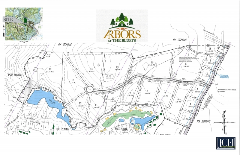 The Arbors at The Bluffs Site Map