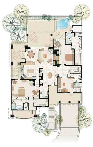 Luxury Floor Plans luxury floor plan ground floor google search The Rocks Scottsdale Arizona Private Golf Community And Luxury Villas Floor Plans