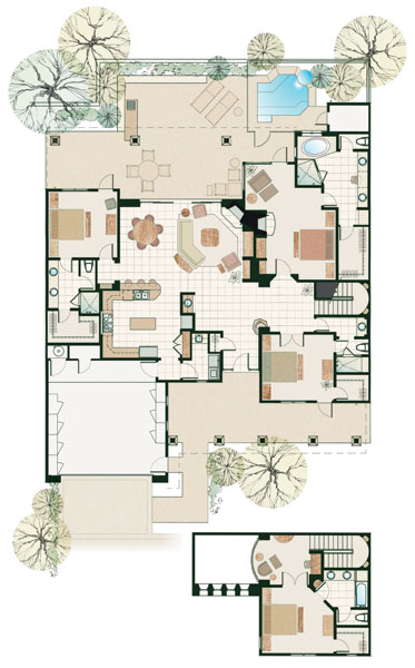 Arizona private golf community and luxury villas floor plans