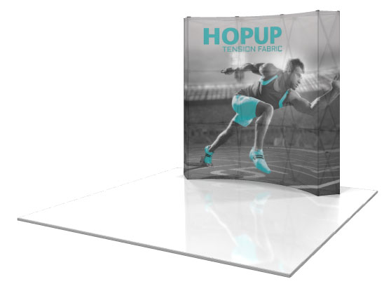 Backlit HopUp 3x3 Tension Fabric Display