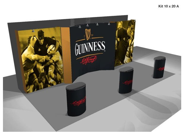 Burst Tension Fabric Displays