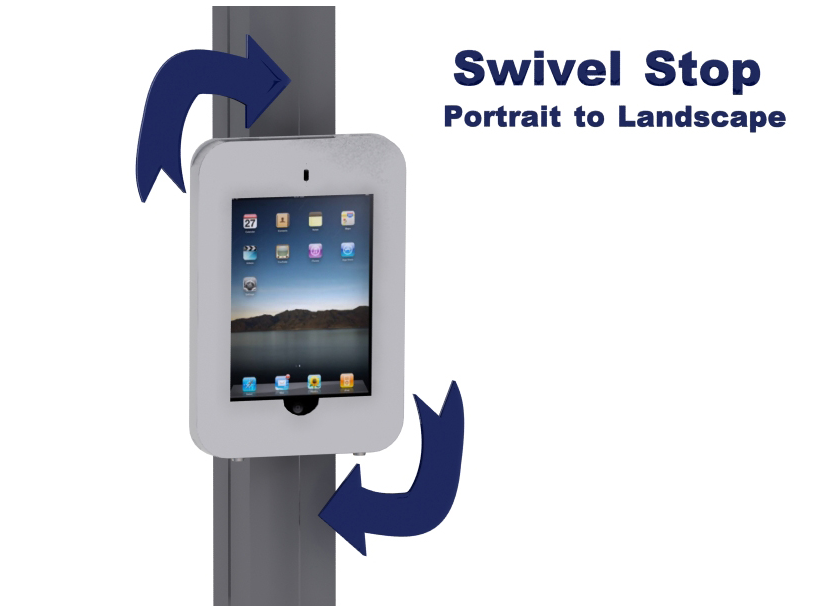 MOD-1318 Swivel iPad Clamshell Attachment for Extrusion