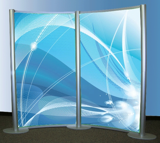 8 x 10 XRline Concave Wall Display 2-section