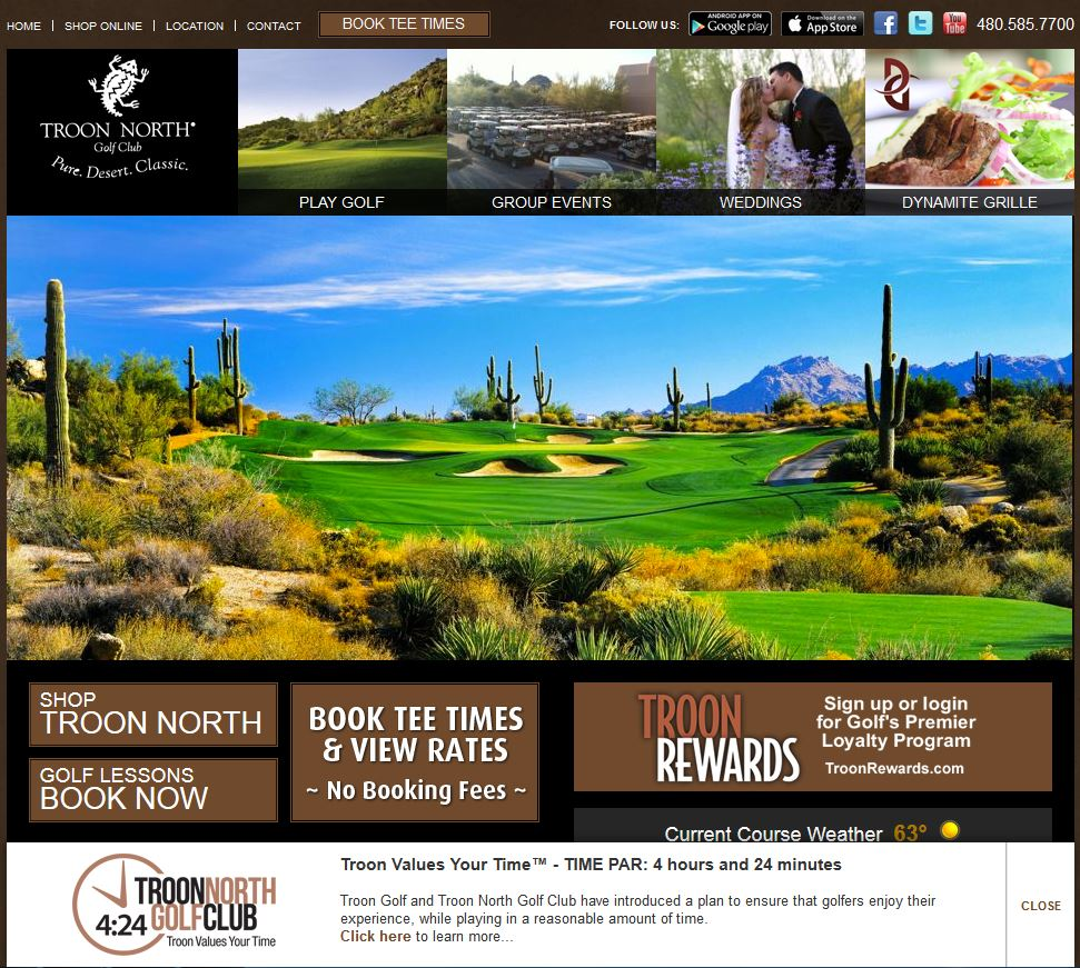 Troon North Golf Club: Troon Values Your Time