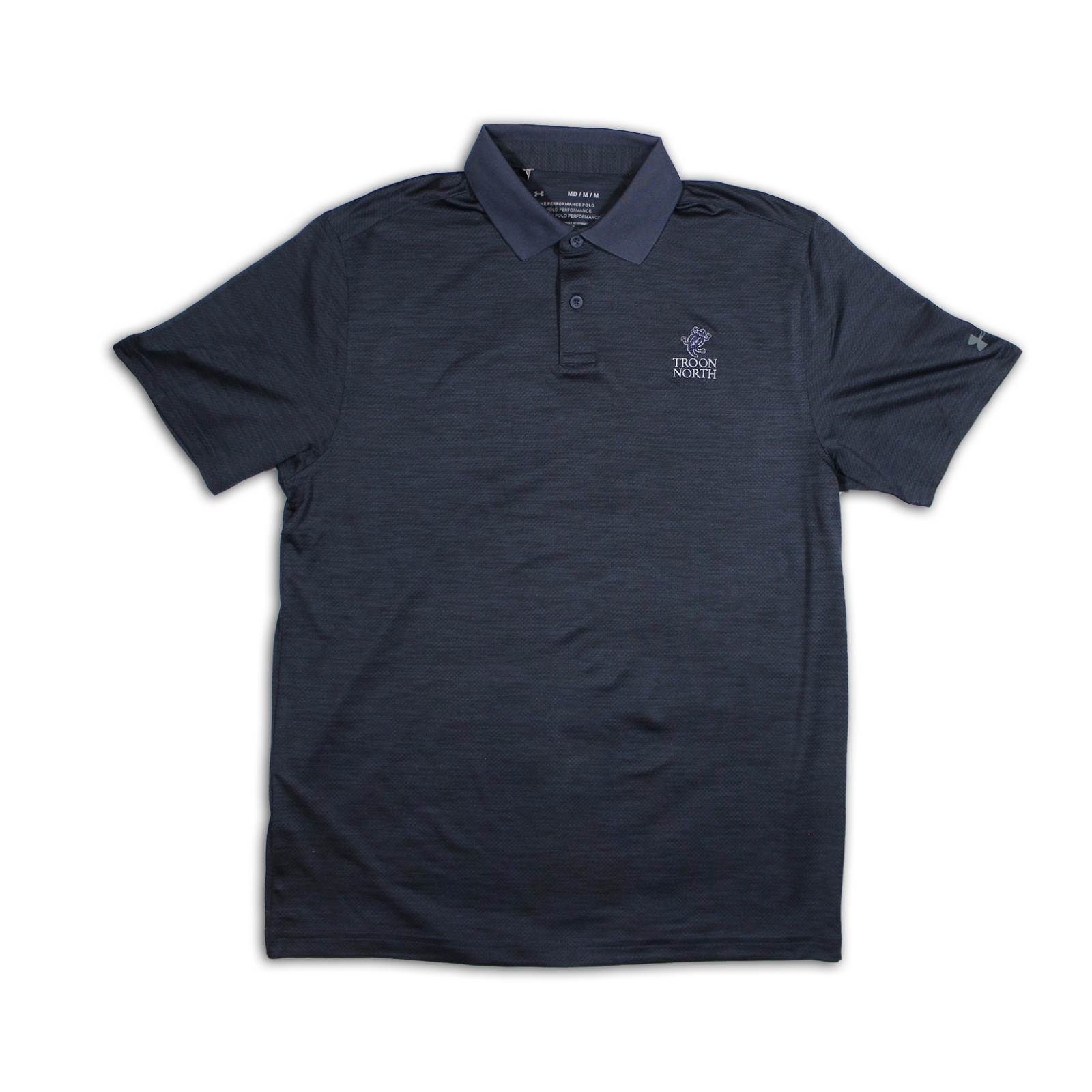 Under Armour Solid Navy Polo