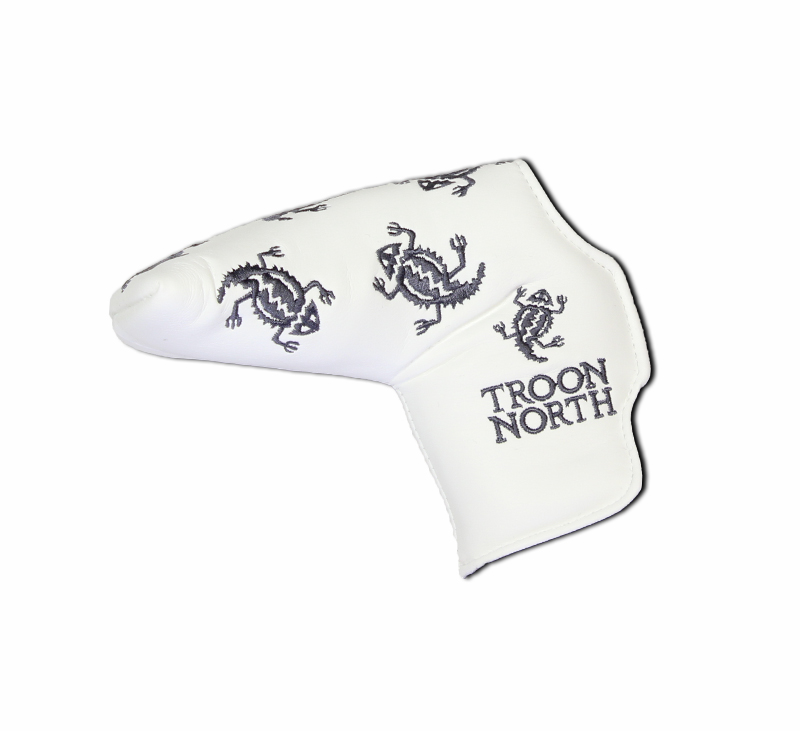 Troon North Blade Putter Cover - Multiple Icons - White