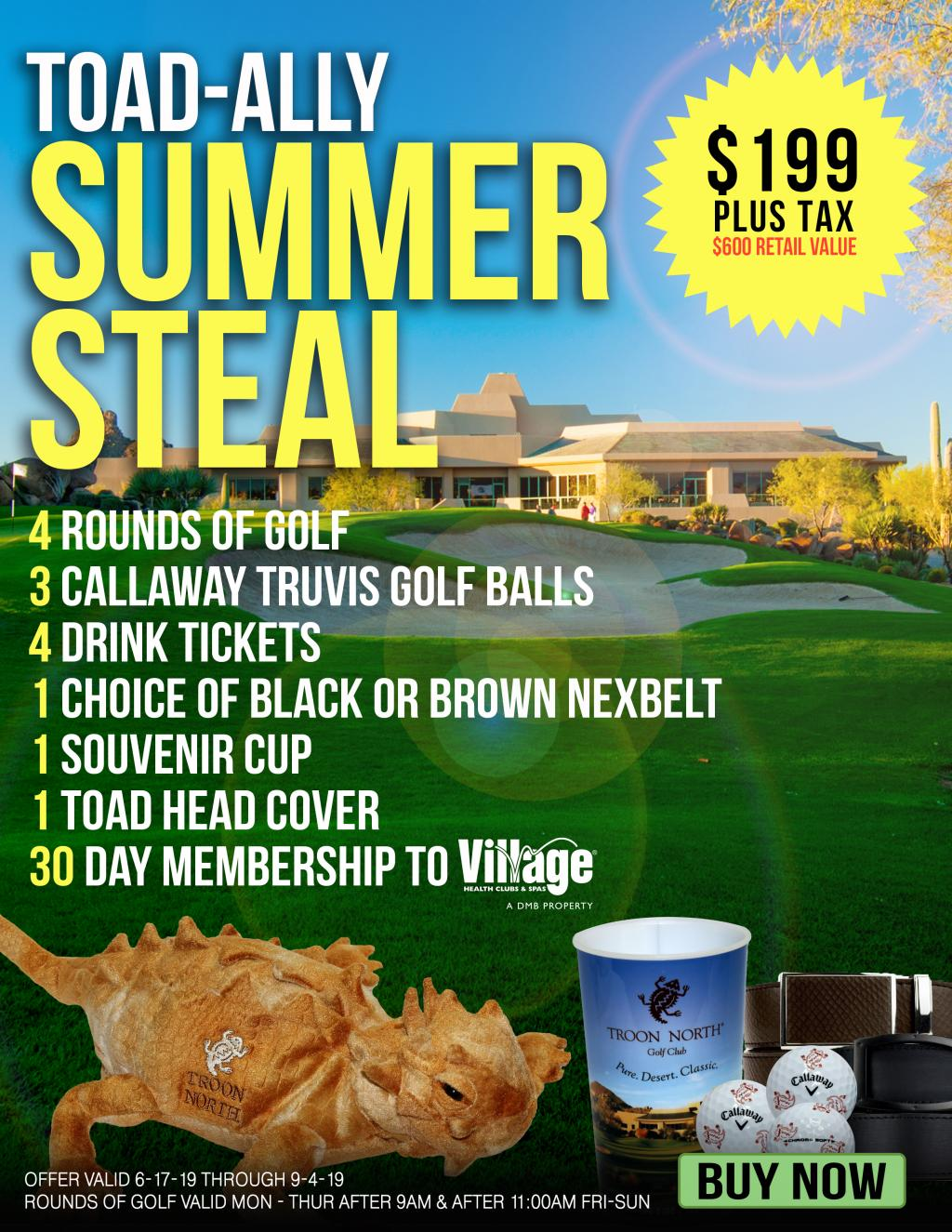 Summer Steal 4 Round Package