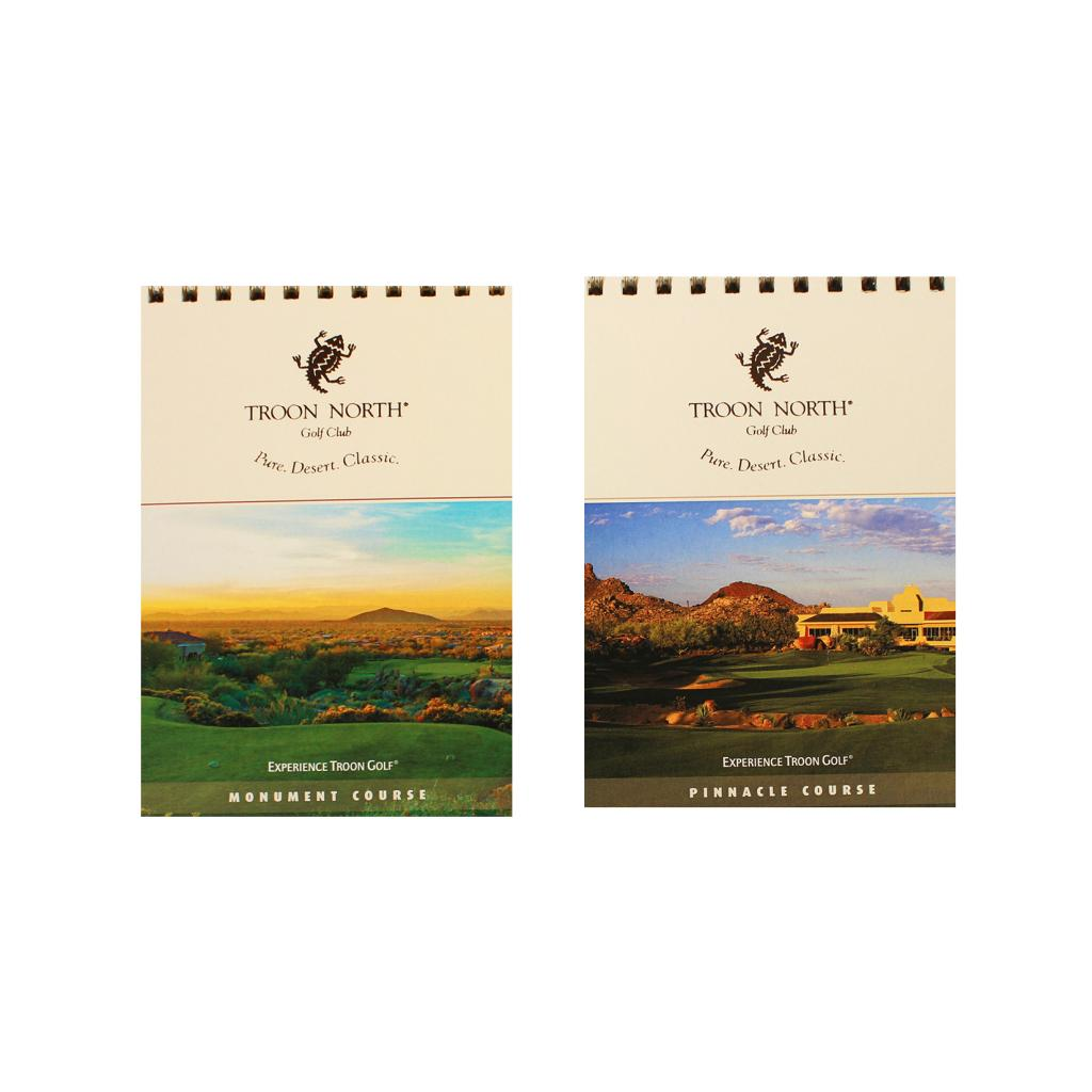 Double-sided Troon North Yardage Book Monument and Pinnacle Courses