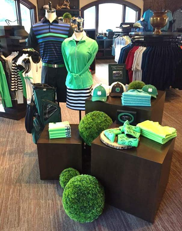 Golf Shop Merchandise Display