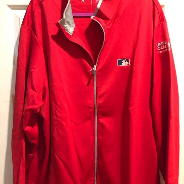UMPS CARE Antigua Full Zip -Red-Size 3XL