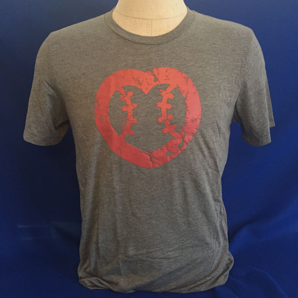 UMPS CARE Heart Shirt - Gray - Size 2XL