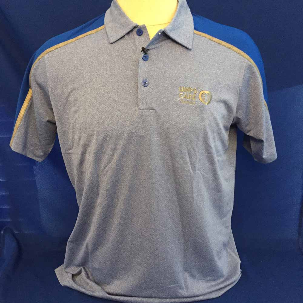 UMPS CARE Antigua Sustain Polo - Blue - Size L
