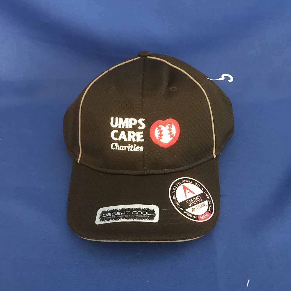 UMPS CARE White Antigua Hat - Black - Size M/L