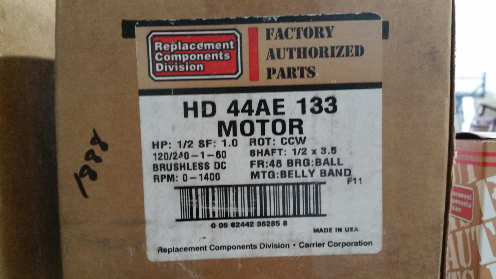 Blower motor usi indy inc for Motor carrier service inc