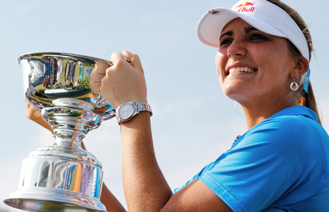 Alexis Thompson after winning the Navistar LPGA Classic.