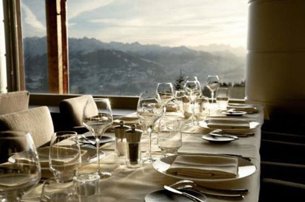 Lemont Blanc Restaurant, Crans Montana Switzerland