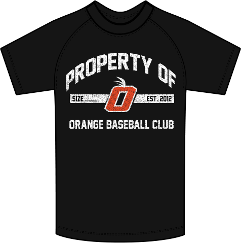 Orange Property Of (Distressed) New Era Performance Crew Tee (2 Color Choices)
