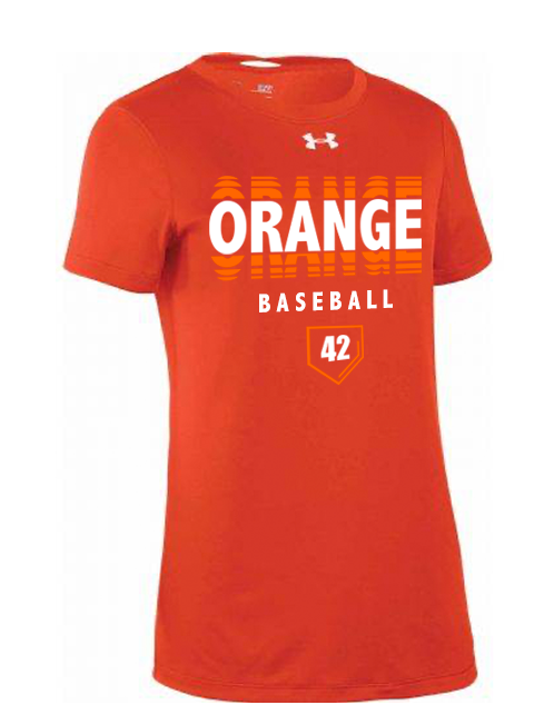 Orange Ripple Under Armour Womens SS Locker Tee (2 Color Choices + Personalization)