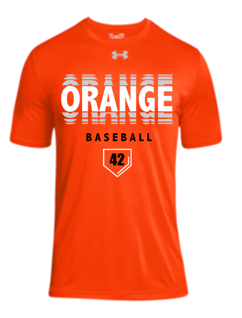 Orange Ripple Under Armour SS Locker Tee (3 Color Choices + Personalization)