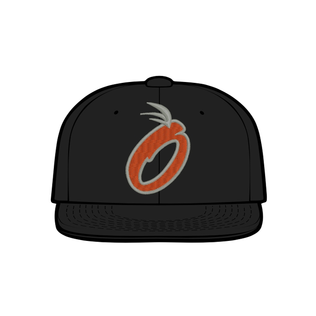 2021 Orange Baseball Team Hat by Zephyr (Black)