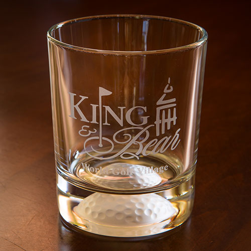 Sterling Cut Rocks Glass - King & Bear