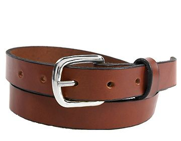 Plain Belt-Silver End Bar Buckle-Canyon Brown