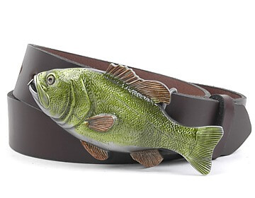 Plain Belt-Fish Tape Buckle-Chocolate Brown