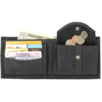 Bi-Fold with Coin Pocket