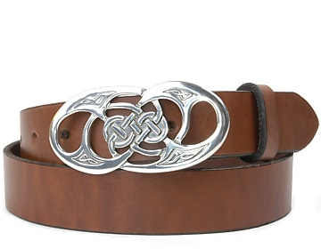 Plain Belt-Twisted Loop Buckle-Canyon Brown