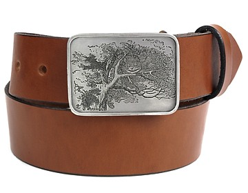 Plain Belt-Cheshire Cat Buckle-Canyon Brown