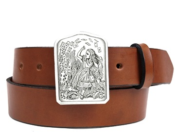 Plain Belt-Alice with Cards Buckle-Canyon Brown