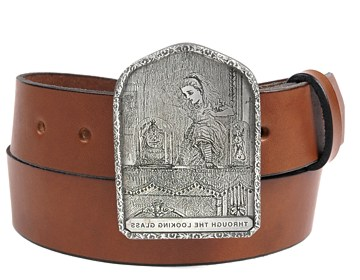 Plain Belt-Looking Glass Buckle-Canyon Brown