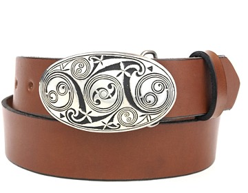 Plain Belt-Lindisfarne Buckle-Canyon Brown