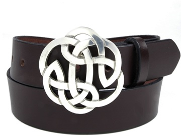 Plain Belt-Lugh`s Knot Buckle-Chocolate Brown